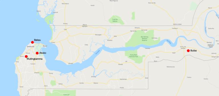 Locaties in Gambia